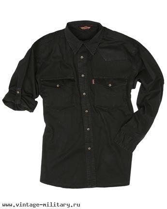 Рубашка мужская черная Prairie , Life Line