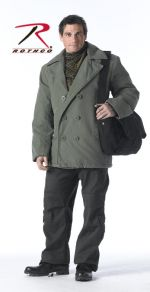 Rothco Бушлат Vintage Olive Drab Cotton Pea Coat , ROTHCO